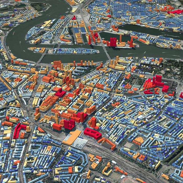 Rotterdam met populatie